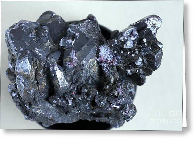 Silver Ore Greeting Cards - Proustite Crystals Greeting Card by Dirk Wiersma