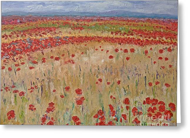 Provence Poppies Greeting Card by Barbara Anna Knauf