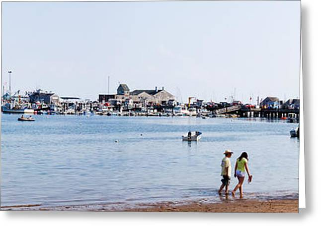 Ocean Panorama Greeting Cards - Provincetown Harbor Greeting Card by Thomas Marchessault