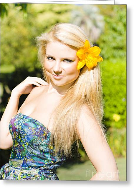 Provocative Tropical Beauty Greeting Card by Jorgo Photography - Wall Art Gallery