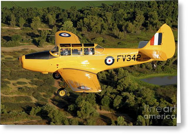 Monoplanes Greeting Cards - Pt-26 Flying Over Sacramento Valley Greeting Card by Phil Wallick