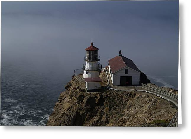 Pt Reyes Lighthouse Greeting Card by Bill Gallagher