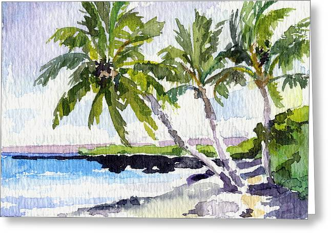 Lahaina Greeting Cards - Puako Path Greeting Card by Stacy Vosberg