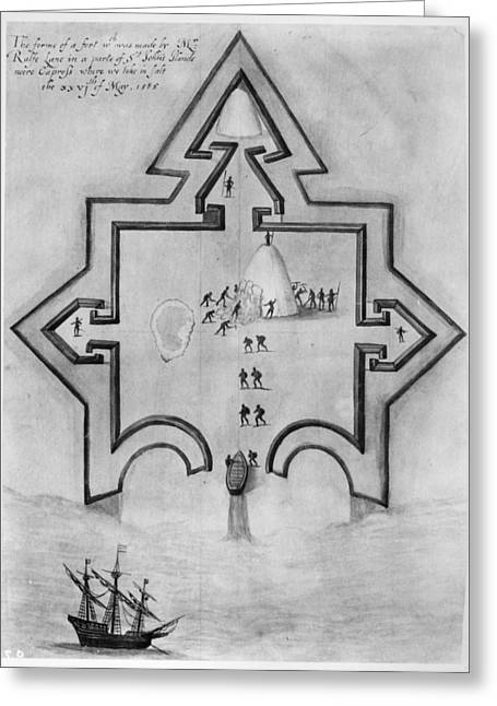 Slavery Ship Greeting Cards - Puerto Rico: Fort, 1585 Greeting Card by Granger
