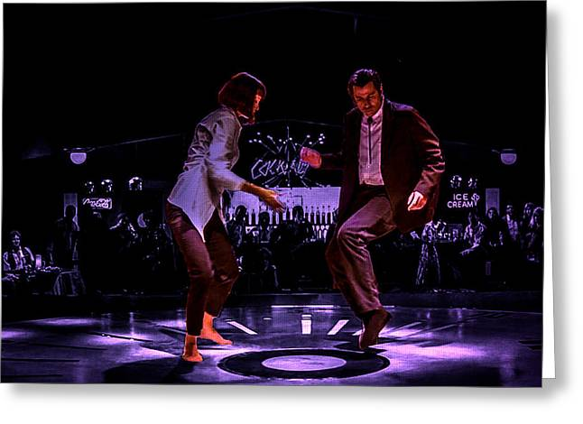 Machismo Greeting Cards - Pulp Fiction Dance 3 Greeting Card by Brian Reaves