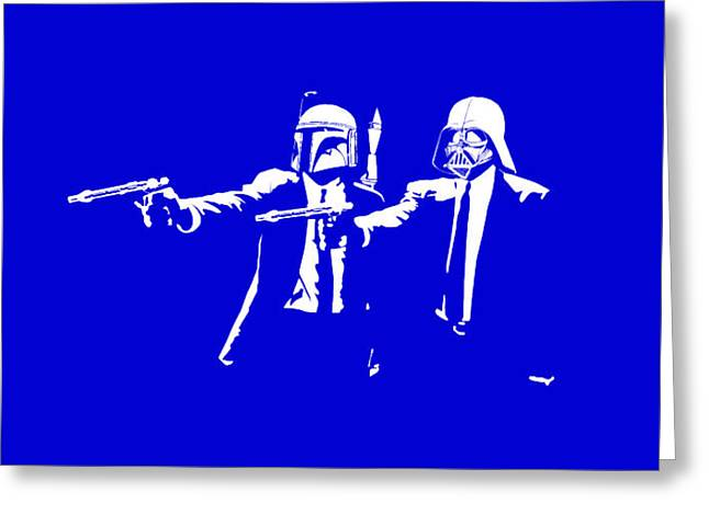 Funny Greeting Cards - Pulp Wars  Greeting Card by Patrick Charbonneau