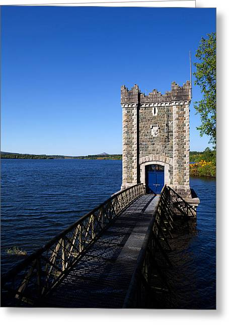 Pumping Station Greeting Cards - Pumping Tower, Vartry Reservoir Greeting Card by Panoramic Images