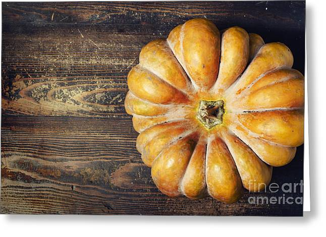 Cards Vintage Pyrography Greeting Cards - Pumpkin Greeting Card by Jelena Jovanovic