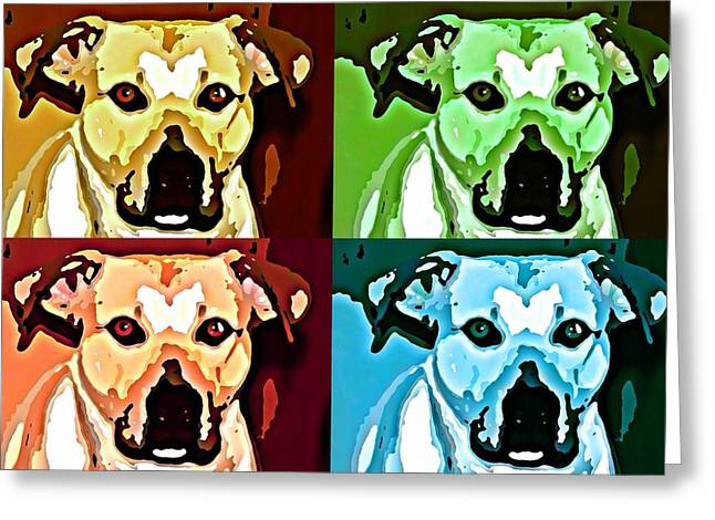 Pitty Greeting Cards - Pundy Greeting Card by Sharon Atkinson