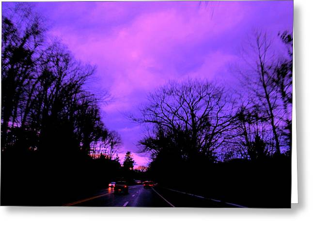 Purple Haze Greeting Card by Allen n Lehman