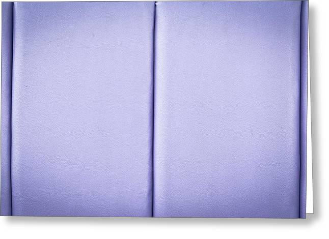 Purple Abstract Greeting Cards - Purple leather Greeting Card by Tom Gowanlock