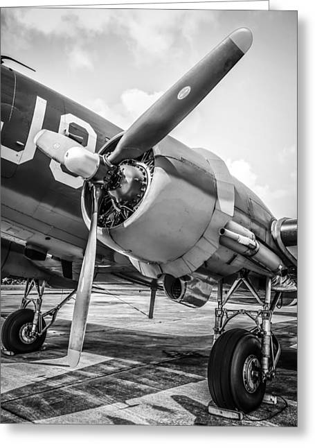 Vintage Greeting Cards - PW Radial Engine Greeting Card by Chris Smith