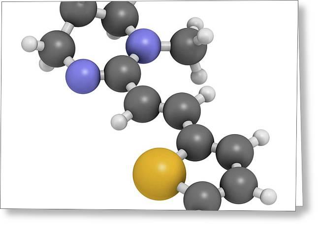 Pyrantel Antinematodal Drug Molecule Greeting Card by Molekuul