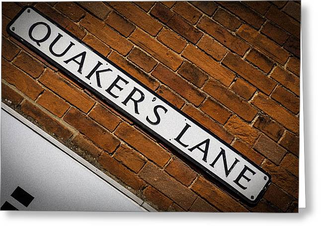 Quaker Greeting Cards - Quakers Lane Greeting Card by Andy Mayes