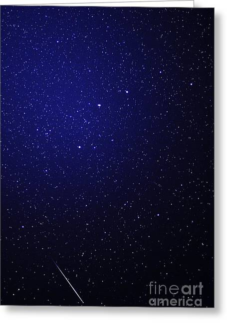 Star Cluster Greeting Cards - Quantarid Meteor Greeting Card by Thomas R Fletcher