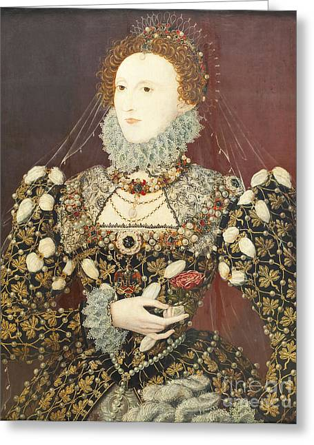 Hilliard Greeting Cards - Queen Elizabeth I Greeting Card by Roberto Morgenthaler