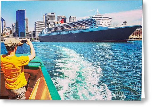 Queen Greeting Cards - Queen Mary 2 Sydney Greeting Card by Colin and Linda McKie
