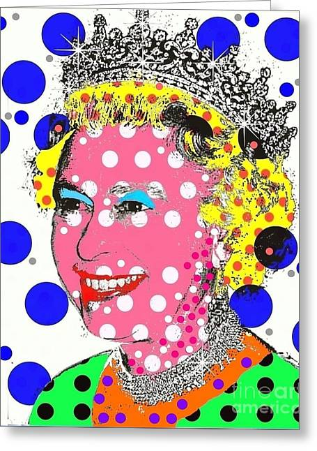 British Royalty Digital Greeting Cards - Queen Greeting Card by Ricky Sencion