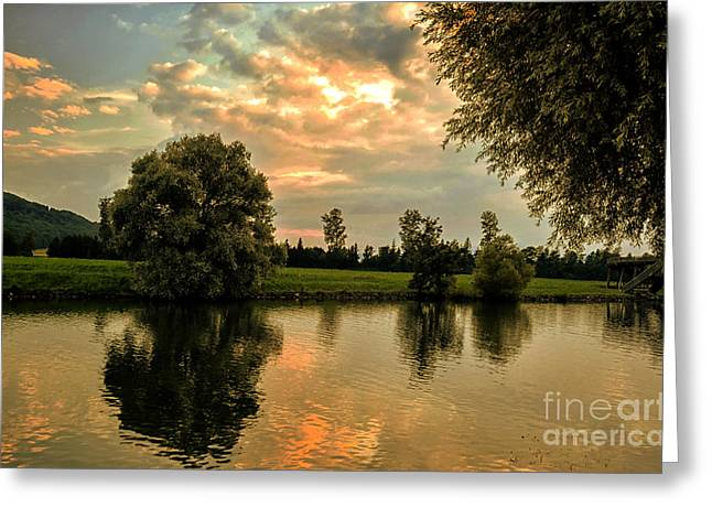 Michelle Greeting Cards - Quiet Evening Greeting Card by Michelle Meenawong