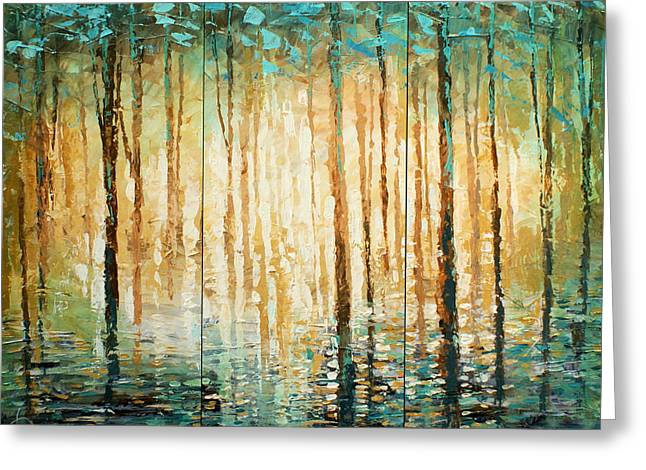 Haze Paintings Greeting Cards - Quiet Greeting Card by Michael Lang