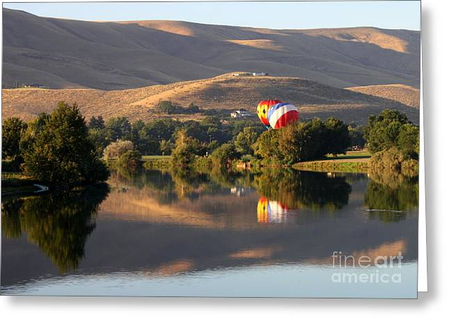 Yakima Valley Greeting Cards - Quiet Morning Reflection in Prosser Greeting Card by Carol Groenen