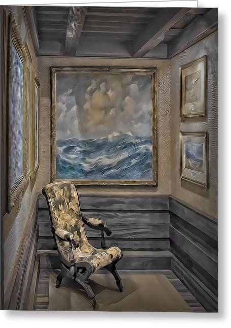 Gillete Castle Greeting Cards - Quiet Room Greeting Card by Susan Candelario