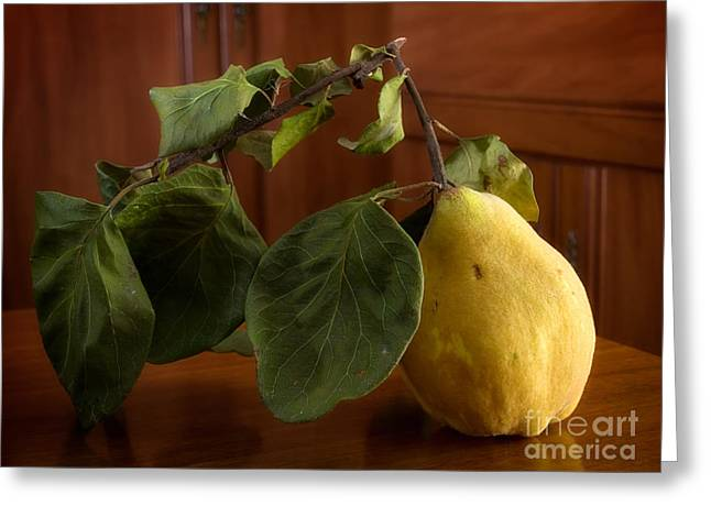 Compote Greeting Cards - Quince Greeting Card by Sinisa Botas