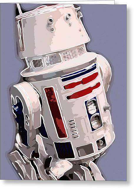 Award Greeting Cards - R2d2 Greeting Card by Toppart Sweden