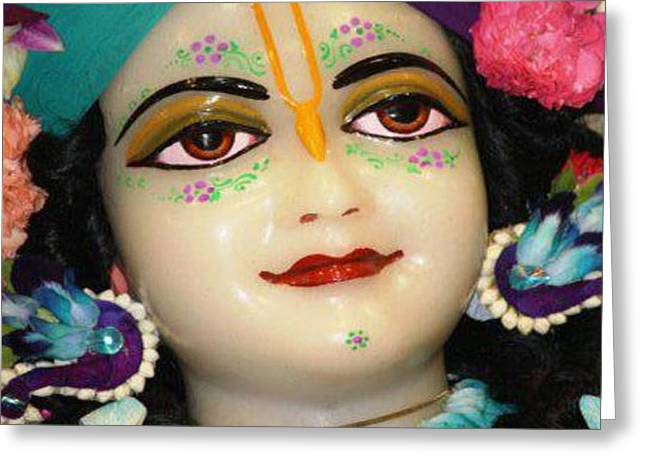 Festival Of Peace Greeting Cards - Radha Krishna Idol Hinduism Religion Religious Spiritual Yoga Meditation Deco NavinJoshi  Rights Man Greeting Card by Navin Joshi