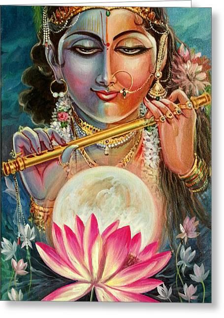 Mayur Sharma Greeting Cards - Radha Krishna Greeting Card by Mayur Sharma