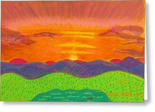 Saw Pastels Greeting Cards - Radiance of the Father Greeting Card by Greg Liotta