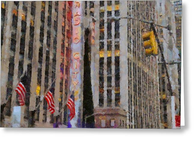 Live Music Greeting Cards - Radio City Music Hall Greeting Card by Dan Sproul