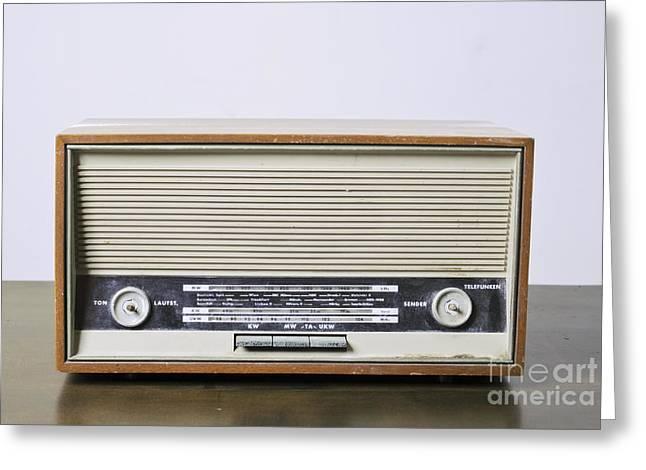 1970s Fashion Greeting Cards - Radio Receiver Greeting Card by Ilan Amihai