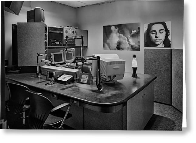 Radio Studio In The 1980s Greeting Card by Mountain Dreams