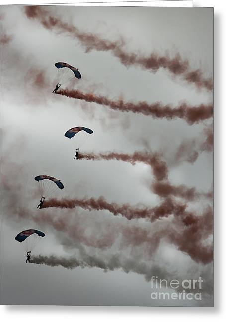 Himmel Greeting Cards - RAF Falcons Greeting Card by Angel  Tarantella