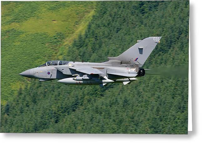 Raf Greeting Cards - RAF Tornado - Low Level Greeting Card by Pat Speirs