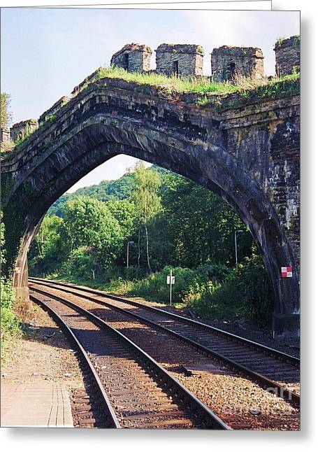 Wales Greeting Cards Greeting Cards - Railroad Tracks Wales Greeting Card by Marcus Dagan