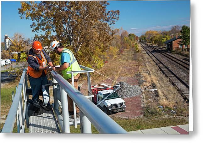 Railway Signal Maintenance Greeting Card by Jim West
