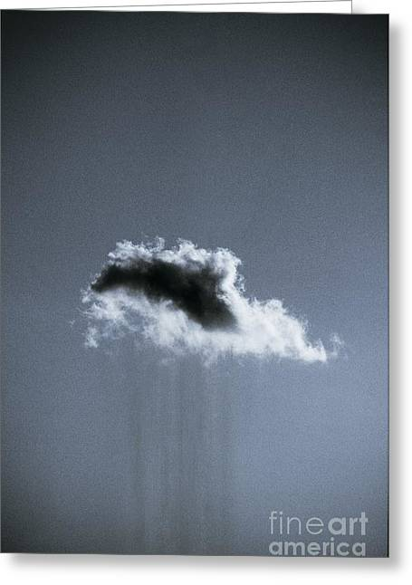 Grey Clouds Greeting Cards - Rain Cloud Greeting Card by Richard Kail