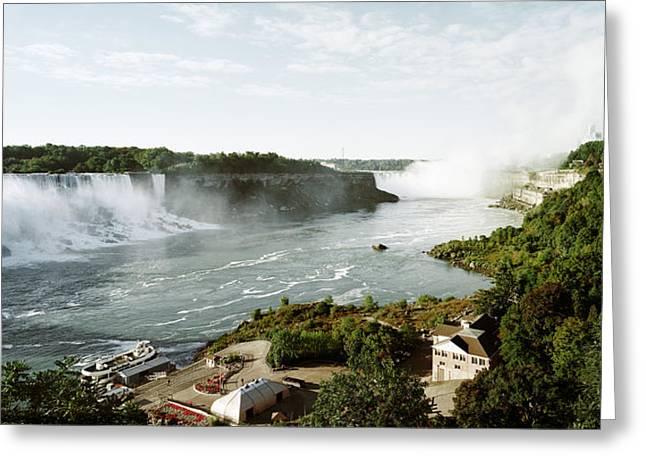 Niagara River Greeting Cards - Rainbow Bridge At Niagara Falls Greeting Card by Panoramic Images