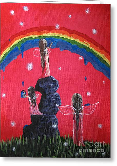 Big Sister Greeting Cards - Rainbow Fairies by Shawna Erback Greeting Card by Shawna Erback