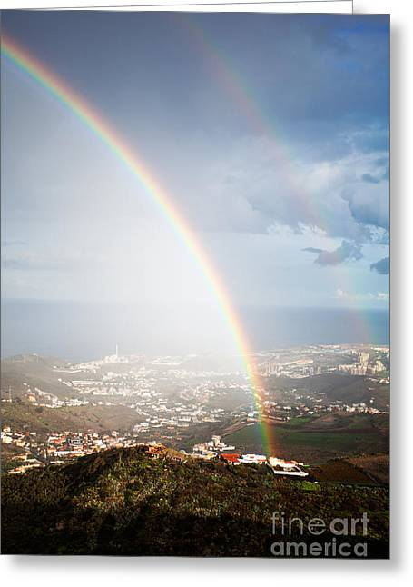 Peaceful Scenery Greeting Cards - Rainbow Greeting Card by Kati Molin