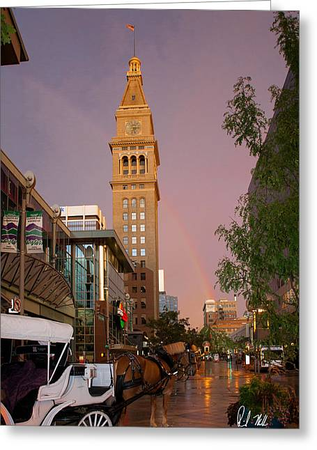 16th Street Mall Greeting Cards - Rainbow Mall Greeting Card by Rick Machle