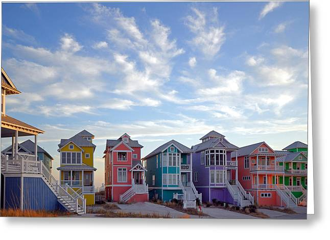Morehead Greeting Cards - Rainbow Row II Greeting Card by Mike Kennedy