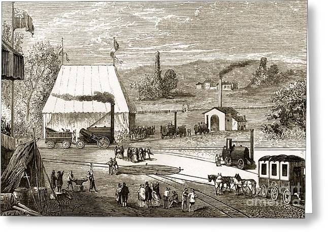 Trial Greeting Cards - Rainhill Trials October 1829 Greeting Card by Sheila Terry