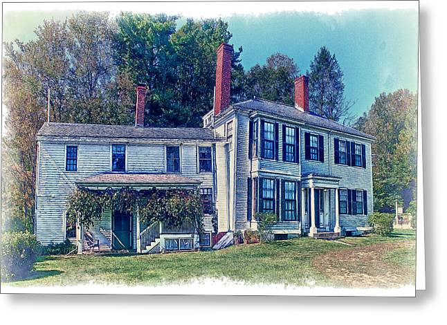 Concord Greeting Cards - Ralph Waldo Emmerson Home Greeting Card by Constantine Gregory