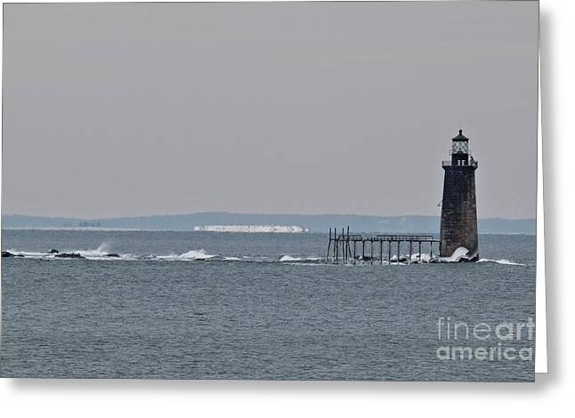 Winter In Maine Greeting Cards - Ram Island Ledge Light_9941 Greeting Card by Joseph Marquis