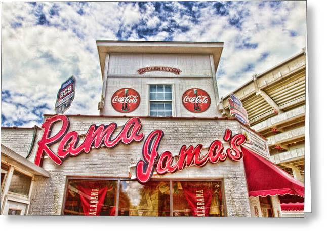 Alabama Crimson Tide Greeting Cards - Rama Jamas Greeting Card by Scott Pellegrin