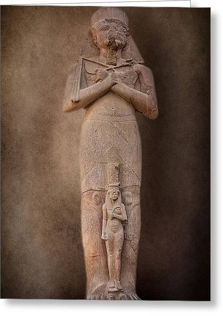 Pharaoh Photographs Greeting Cards - Ramses II Greeting Card by Erik Brede