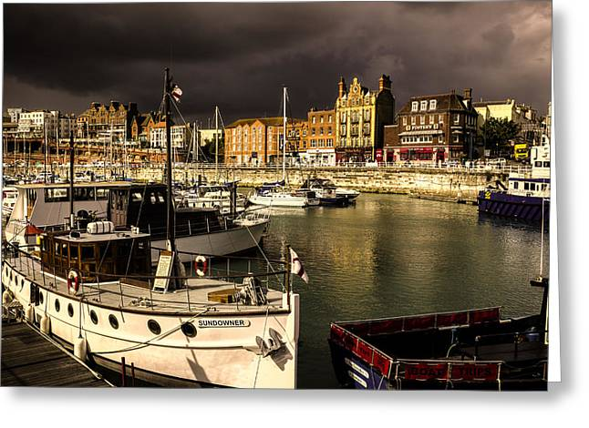 Fishing Trawler Greeting Cards - Ramsgate harbour Greeting Card by Ian Hufton